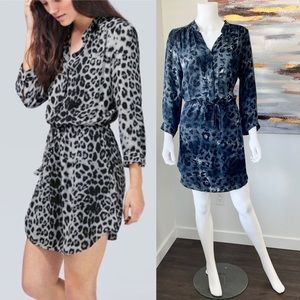 ARITZIA T.Babaton Bennett Animal Print Silk Dress
